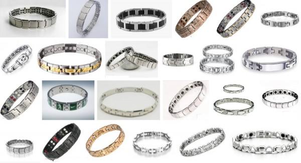 현재 온라인에서 판매 중인 수많은 종류의 게르마늄 팔찌들. - Google 이미지 검색 제공